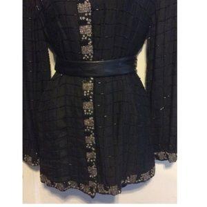 Midnight Run Dresses - Midnight Run Vintage Beaded Shirt Dress